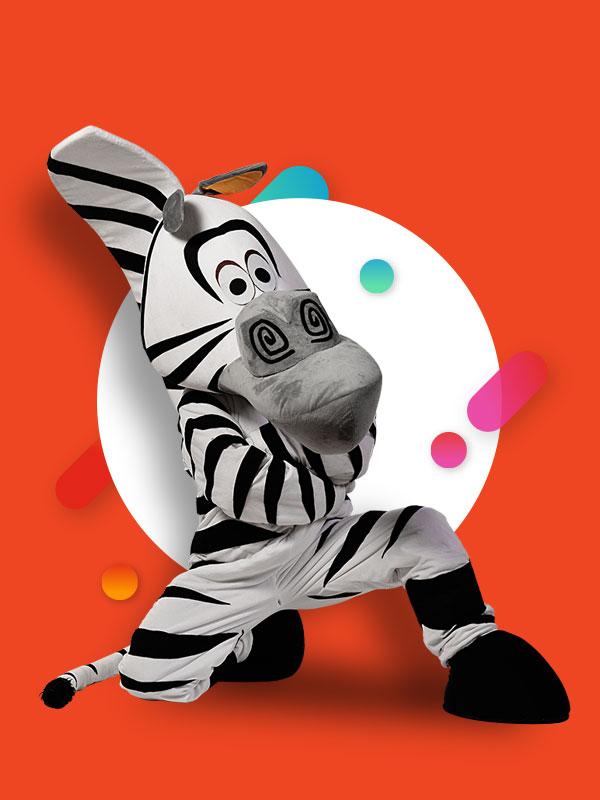 Maskota zebra